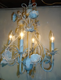 Shabby Chic Tole Chandelier