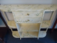 Hand Painted Hall Table Bookshelf