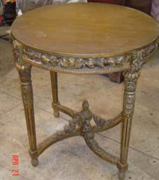 Round end table after